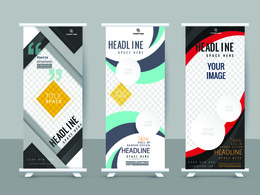 Design stunning roller banner advertising within 24 hrs