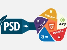 Convert PSD, sketch, XD to HTML, Bootstrap, wordpress webpage