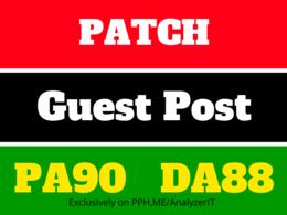 Publish a Permanant Guest Post in Patch. com DA 83 Nofollow