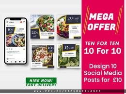 Design social media ads Instagram post and design facebook ads