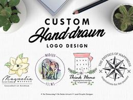 Design a custom hand-drawn vector logo