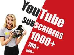 Advertise Youtube channel and Guarantee minimum 500 Subscribers