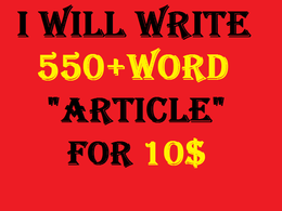 Write 550+ word well researched and high quality unique article