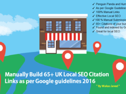 Manually build 65 UK SEO Citation as per Google guide 2020