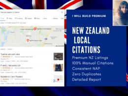Build 60 Premium New Zealand Local Citations