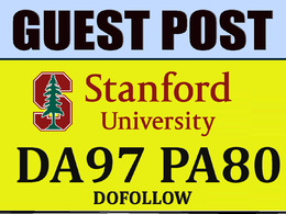 Publish Guest post on Stanford.edu DA97 PA80 TF70+ Blog
