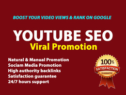 Do organic youtube video seo promotion for marketing