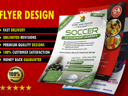 Design a single sided flyer / leaflet / poster for your business
