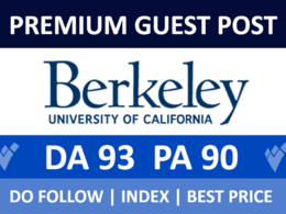 Premium guest post on Berkeley.edu With Dofollow Backlink