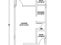 Draw 2d/3d Plan of 3 Bed Room Appartment/House