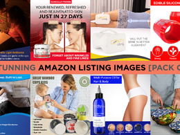Design STUNNING Amazon Listing Images! [PACK OF 7 IMAGES]