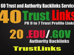 CREATE Manually 40 PR6-9 High Authority Backlinks + 20 .EDU/.GOV