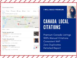 Create 80 Premium Canada Local Citations