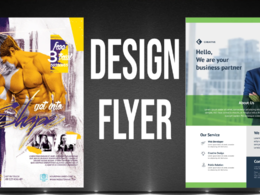 Design professional flyer, postcard, business, church, any
