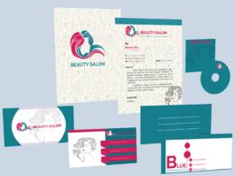 Design your letterhead, business card, envelope and folder