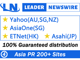 Send your press release to 200 Asia sites,Yahoo(AU,SG,NZ) Asia..