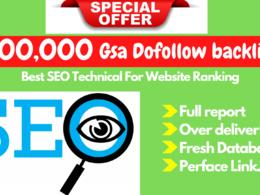 Seo 200,000 Gsa Dofollow high Quality backlinks