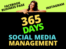 Social media management for 365 days