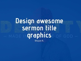 Design awesome sermon title graphics