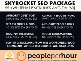 SkyRocket SEO Package | 55+ HQ Backlinks Avg DA 60