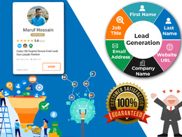 Collect 100 Targeted Genuine Email Leads from LinkedIn Premium