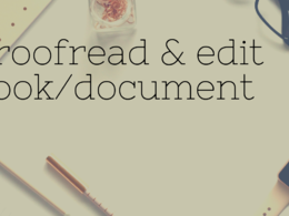 Proofreads and edit 1000 words of your book or document