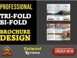 Design professional trifold or bifold brochure