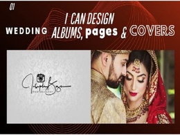 Design Wedding Albums, Pages & Cover within 50 images for you.