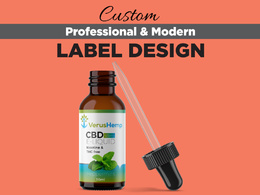Design professional product label with free 3D mockup