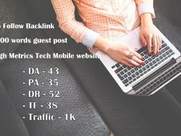 Guest post on Tech Mobile website – DR52 DA43 TF38