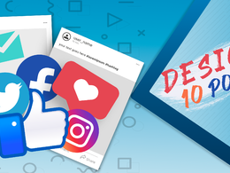 Design 10 posts for your page on Facebook , Instagram , Twitter
