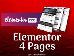 Design 4 Wordpress Pages in Elementor Pro