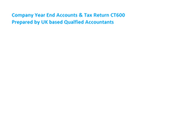Year End Accounts & Tax Return for Limited Company by UK based