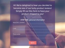Deliver a multilingual custom website form