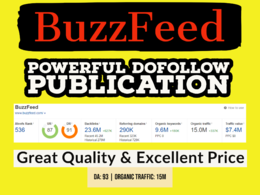 Get A Quality Publication on BuzzFeed.Com | Dofollow Backlink