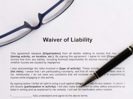 Draft hold harmless / liability waiver / disclaimer letters