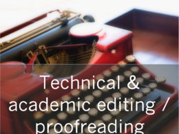 Edit/proofread technical and academic articles and reports