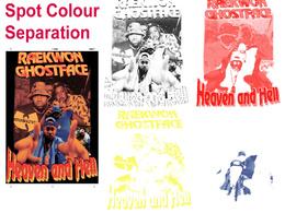 Screen print or color separation SPOT/CMYK