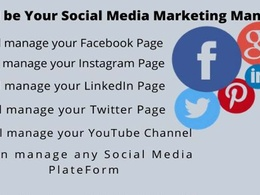 Be your Social Media Marketing Manager for 5 Days