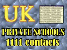 Give you UK PRIVATE SCHOOL  DATABASE 2020