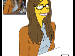 Make you a portrait in the simpsons style