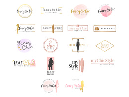 Fancy Chic Modern Logo Design
