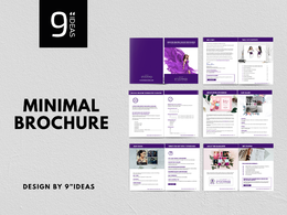 Minimal and eye-catchy brochure, catalogue, booklet