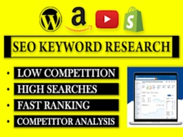 SEO keyword research( up to 800)  and competitor analysis
