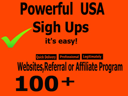 100 unique real and confirmed sign ups for your websites