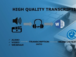 Do fast and flawless audio video transcription in 24 hours