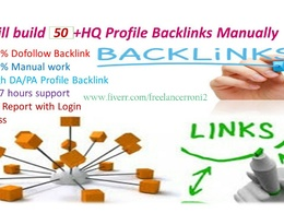 Create 50 high profile backlinks manually for you website