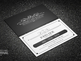 Make you a vintage professional business card