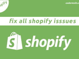 Fix shopify bugs, theme customization, awesome store design