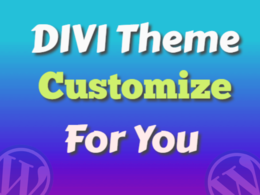 Customize divi theme, simple but professional website for you